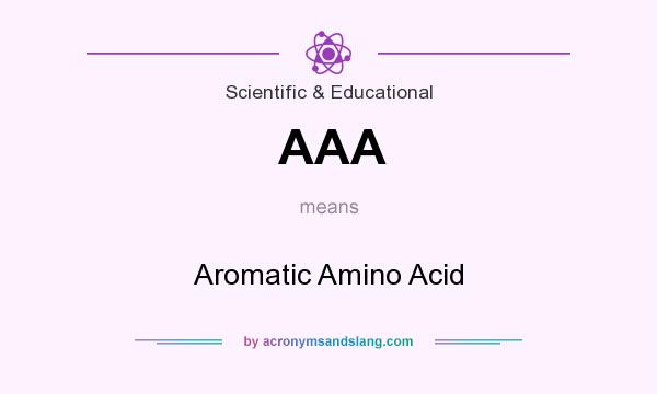 What does AAA mean? It stands for Aromatic Amino Acid
