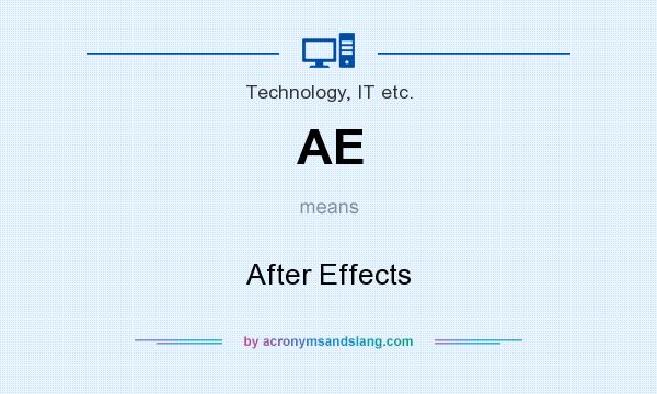 What does AE mean? It stands for After Effects