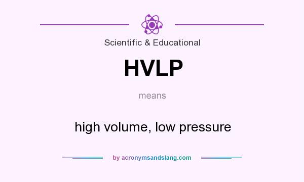 What does HVLP mean? It stands for high volume, low pressure