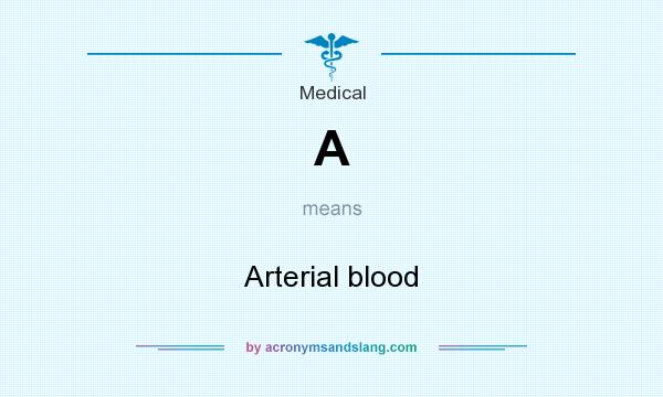 What does A mean? It stands for Arterial blood