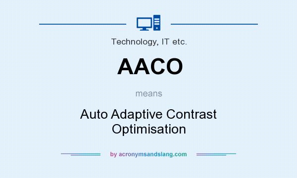 What does AACO mean? It stands for Auto Adaptive Contrast Optimisation