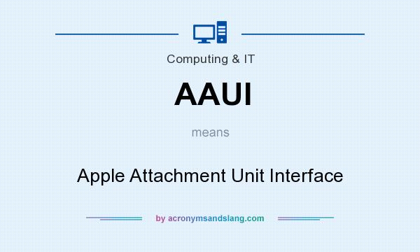 What does AAUI mean? It stands for Apple Attachment Unit Interface