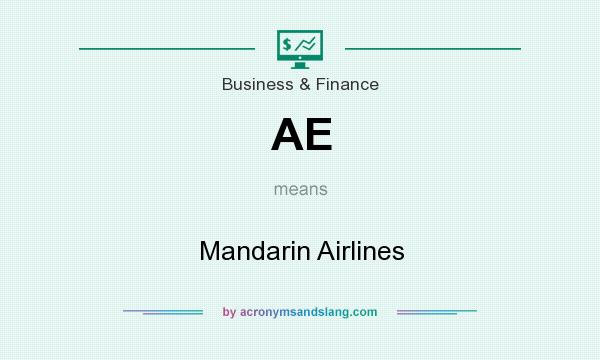 What does AE mean? It stands for Mandarin Airlines