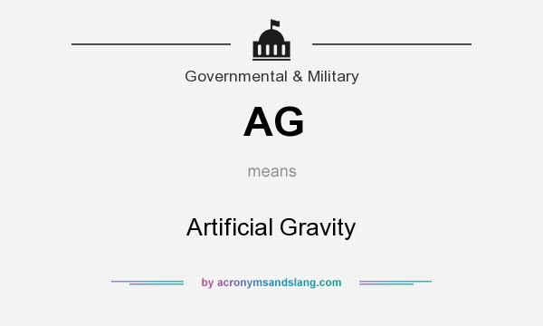 What does AG mean? It stands for Artificial Gravity
