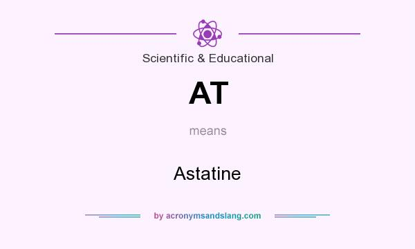 What does AT mean? It stands for Astatine