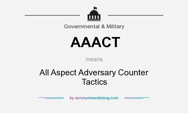 What does AAACT mean? It stands for All Aspect Adversary Counter Tactics