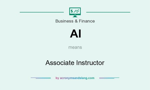 What does AI mean? It stands for Associate Instructor