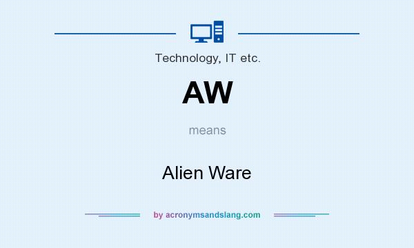 What does AW mean? It stands for Alien Ware