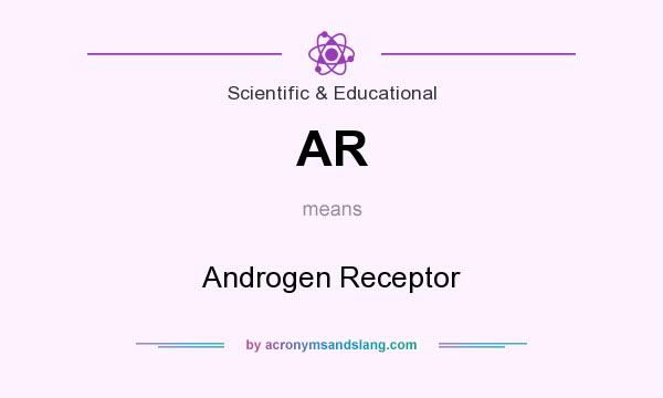 What does AR mean? It stands for Androgen Receptor