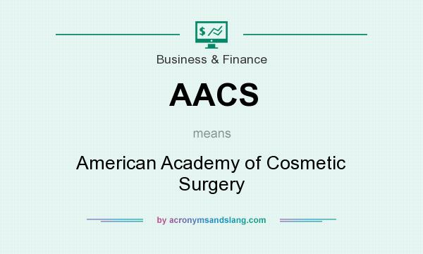 What does AACS mean? It stands for American Academy of Cosmetic Surgery