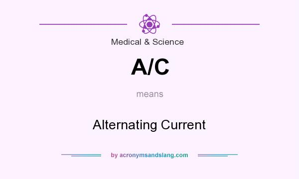 What does A/C mean? It stands for Alternating Current