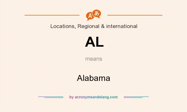 What does AL mean? It stands for Alabama