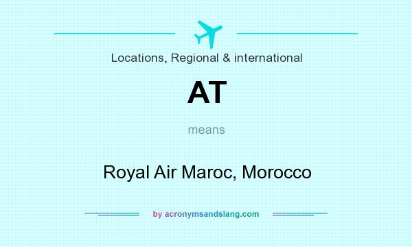 What does AT mean? It stands for Royal Air Maroc, Morocco