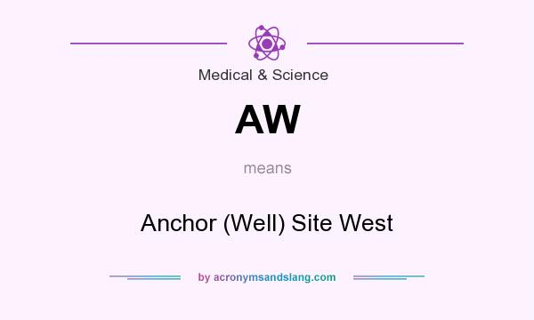 What does AW mean? It stands for Anchor (Well) Site West