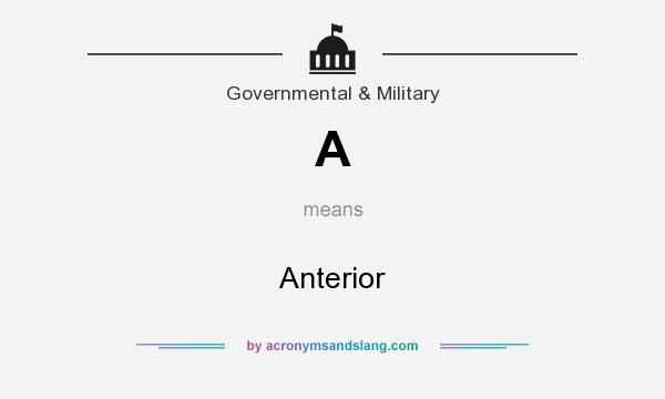 What does A mean? It stands for Anterior