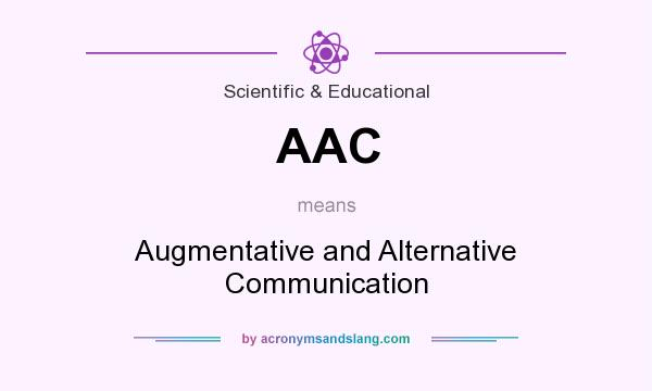 What does AAC mean? It stands for Augmentative and Alternative Communication