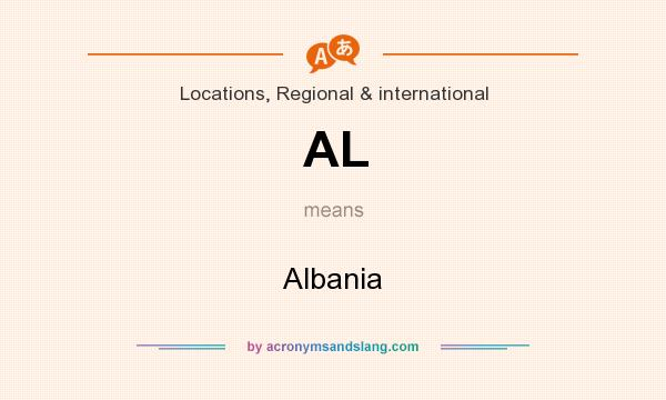 What does AL mean? It stands for Albania