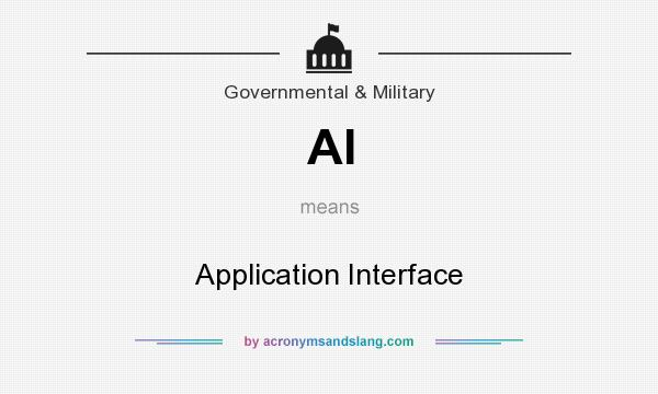 What does AI mean? It stands for Application Interface