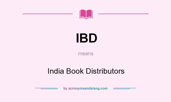What does IBD mean? It stands for India Book Distributors