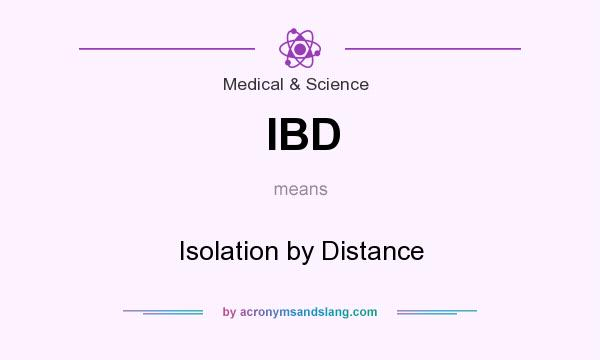 What does IBD mean? It stands for Isolation by Distance