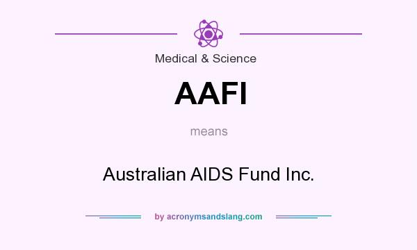 What does AAFI mean? It stands for Australian AIDS Fund Inc.