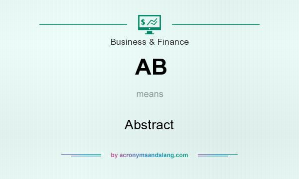 What does AB mean? It stands for Abstract