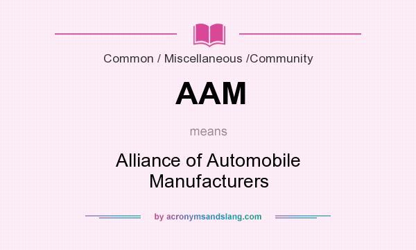 Alliance Of Automobile Manufacturers >> Aam Alliance Of Automobile Manufacturers In Business