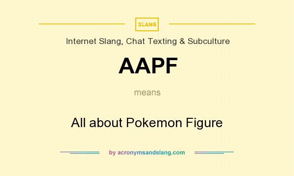 What does AAPF mean? It stands for All about Pokemon Figure