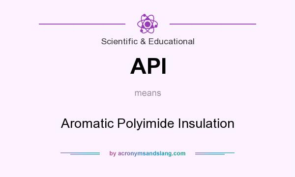 What does API mean? It stands for Aromatic Polyimide Insulation