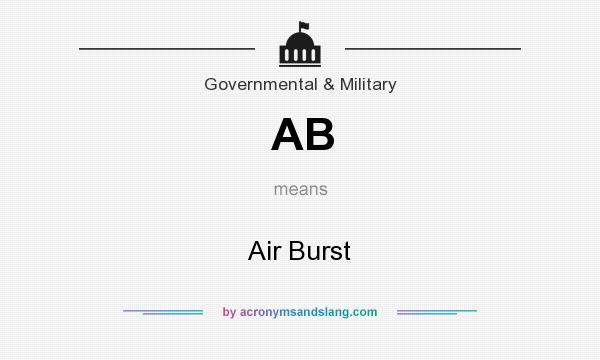 What does AB mean? It stands for Air Burst