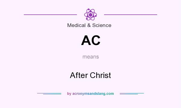 What does AC mean? It stands for After Christ
