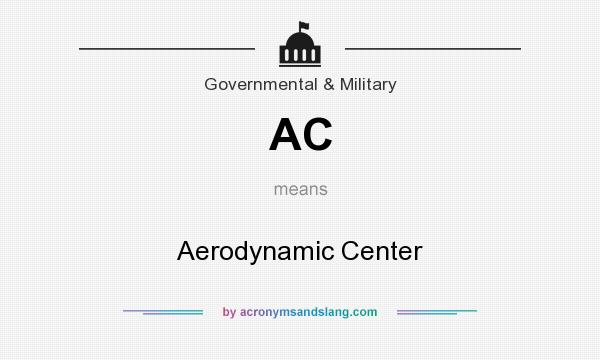 What does AC mean? It stands for Aerodynamic Center