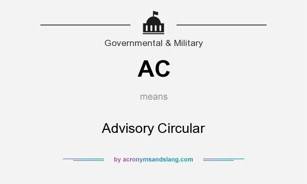 What does AC mean? It stands for Advisory Circular