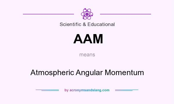 What does AAM mean? It stands for Atmospheric Angular Momentum