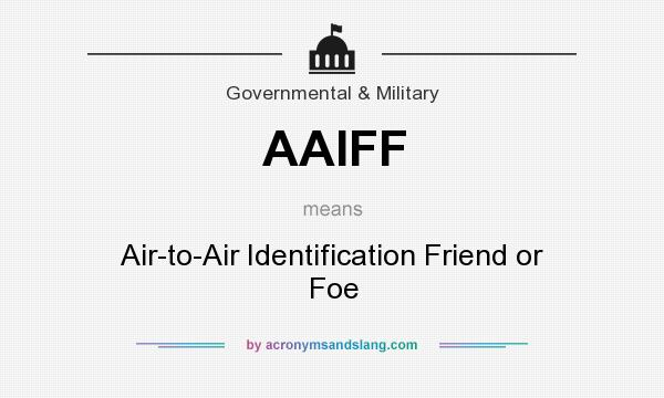 What does AAIFF mean? It stands for Air-to-Air Identification Friend or Foe