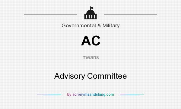 What does AC mean? It stands for Advisory Committee