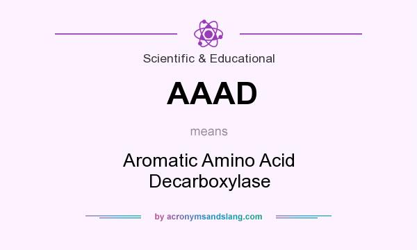 What does AAAD mean? It stands for Aromatic Amino Acid Decarboxylase