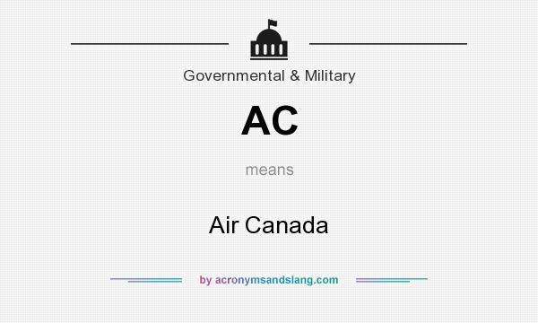 What does AC mean? It stands for Air Canada