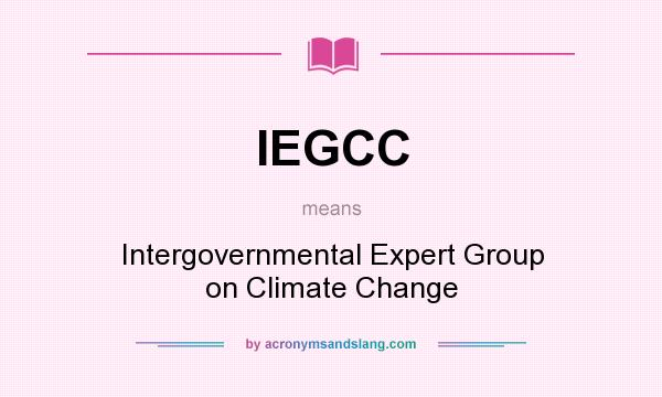 What does IEGCC mean? It stands for Intergovernmental Expert Group on Climate Change