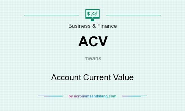 What does ACV mean? It stands for Account Current Value