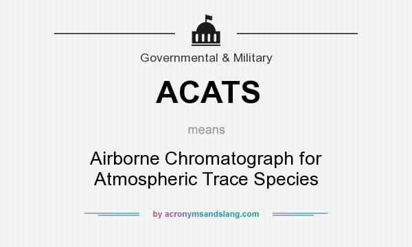 What does ACATS mean? It stands for Airborne Chromatograph for Atmospheric Trace Species