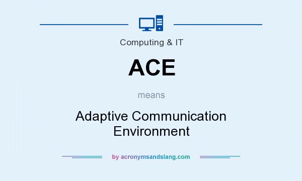 What does ACE mean? It stands for Adaptive Communication Environment