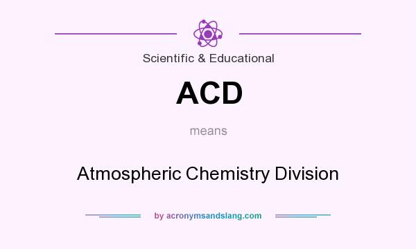What does ACD mean? It stands for Atmospheric Chemistry Division