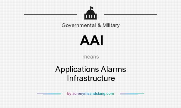 What does AAI mean? It stands for Applications Alarms Infrastructure