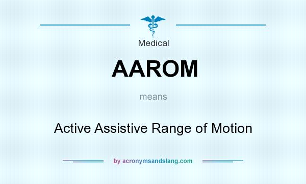 What does AAROM mean? It stands for Active Assistive Range of Motion