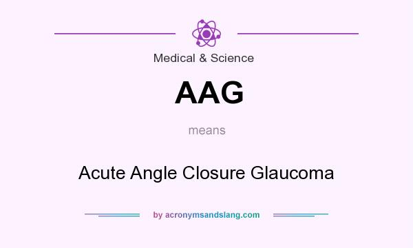 What does AAG mean? It stands for Acute Angle Closure Glaucoma