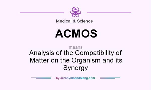 What does ACMOS mean? It stands for Analysis of the Compatibility of Matter on the Organism and its Synergy