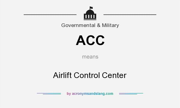 What does ACC mean? It stands for Airlift Control Center