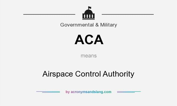 What does ACA mean? It stands for Airspace Control Authority