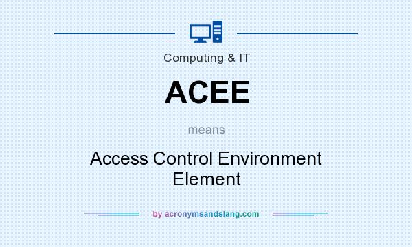 What does ACEE mean? It stands for Access Control Environment Element